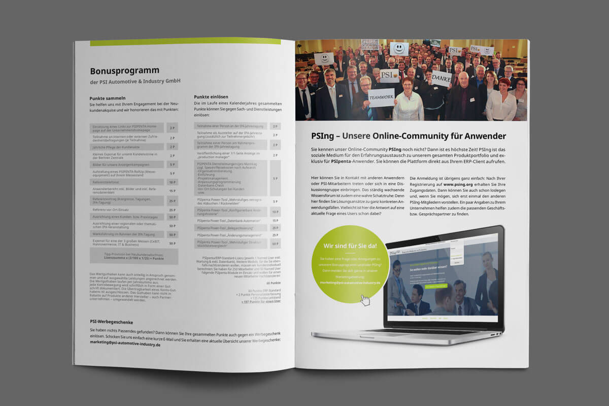 Katalog erstellen lassen Berlin Grafiker Berlin Grafikdesigner Berlin Grafikbüro Berlin Werbeagentur Berlin projekt psi
