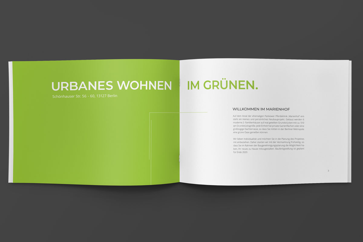Grafik Büro Berlin Grafiker Berlin Grafikdesigner Berlin Werbeagentur Berlin Projekt marienhof gibe